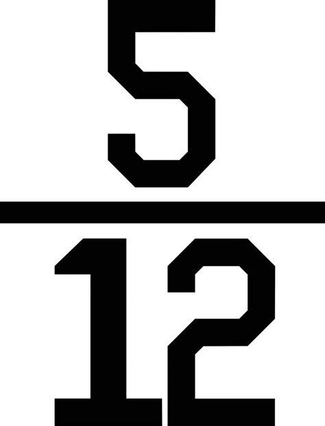 numerical fraction 5 12 clipart etc