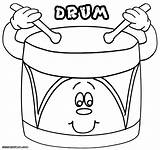 Drum Coloring Pages Colorings Drum3 sketch template