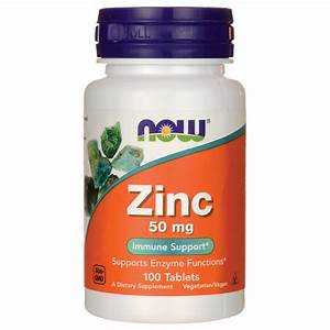 Now Foods Zinc 50 Mg 100 Tabs