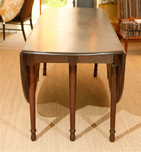 Large Double Drop Leaf Dining Table For Sale At 1stdibs