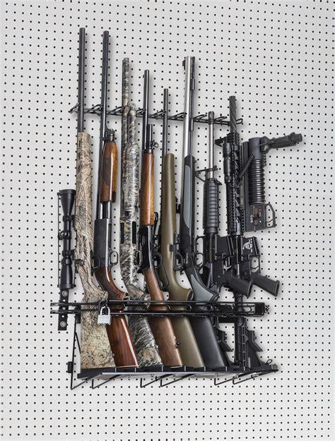 rifle peg board locking wall display sku  rackem racks