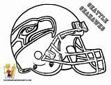 Coloring Pages Broncos Denver Printable Football Helmet sketch template