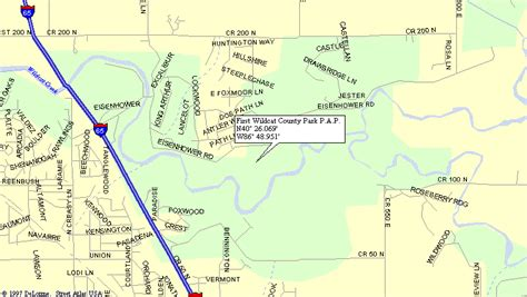 Map To Public Access Boat Launch Points On Wildcat Creek