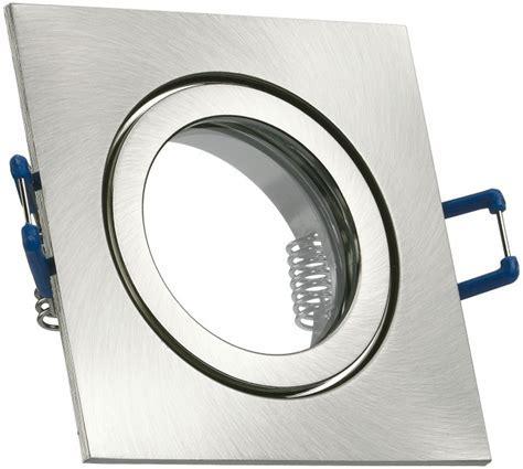 IP44 Aluminium Einbaustrahler   silber gebürstet   eckig