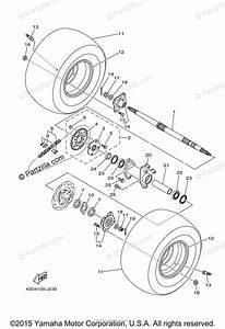 Yamaha Atv 2010 Oem Parts Diagram For Rear Wheel