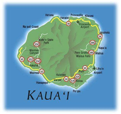 map  kauai hawaii  printable maps map  kauai