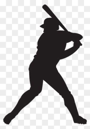 baseball clipart baseball player silhouette transparent