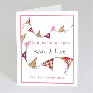 personalised wedding congratulations card by violet With images of wedding congratulation cards