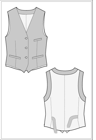 ralphpinkcom  waistcoat sewing pattern