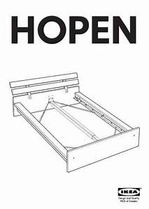 Ikea Hopen Bed Frame Queen Furniture Download User Guide