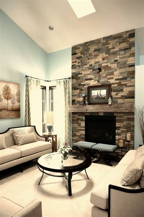 airstone fireplace  focal point   room deavita