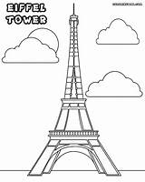 Tower Coloring Pages Eiffel Colouring Sheets Drawing Adult Towers Water Paris France Petronas Template Mundo Print Tour Colorings French 72kb sketch template
