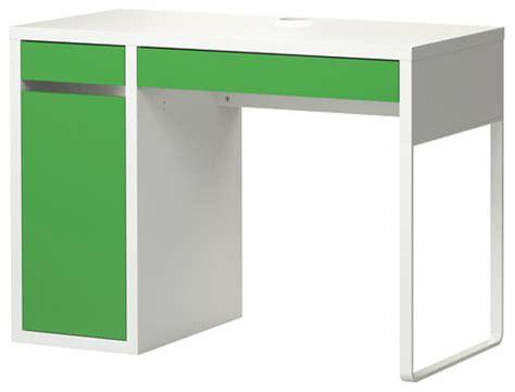 Ikea Micke Desk With Hutch by Micke Desk White Green Modern Desks And Hutches By Ikea