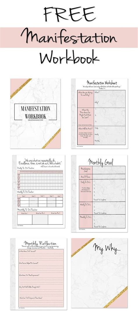 ultimate freebie friday manifestation workbook   achieve  goals bullet journal