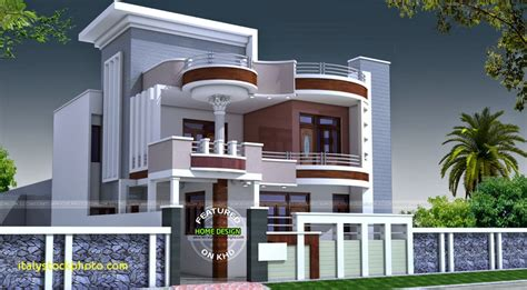 Home Design 1st Floor : Kerala House Front Elevation Designs For Double Floor