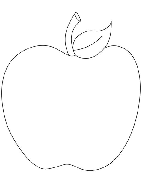Apple Template August Apple Printable Http Freecoloringpagesite
