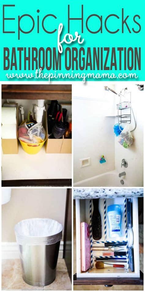 crazy easy hacks    bathroom organized  pinning mama