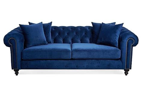 blue velvet chesterfield sofa hand crafted blue velvet chesterfield sofa by heaven