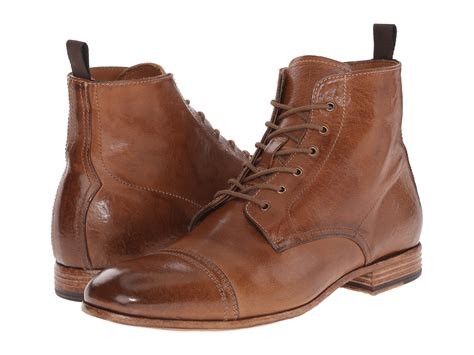 Alexander Mcqueen Washed Lace Up Boot In Brown For Men