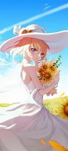 Anime, Girl, Wallpaper, 4k, Sunflowers, Sunny, Day, 5k
