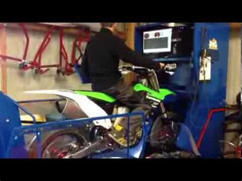 Passage Au Banc D'essai Kxf 450 Supermotard Youtube