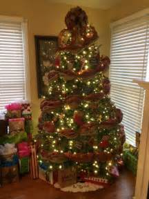 christmas trees decorated with burlap furniture ideas deltaangelgroup