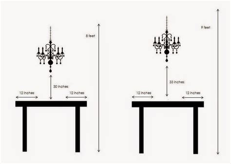kitchen table light height designing home lighting your dining table