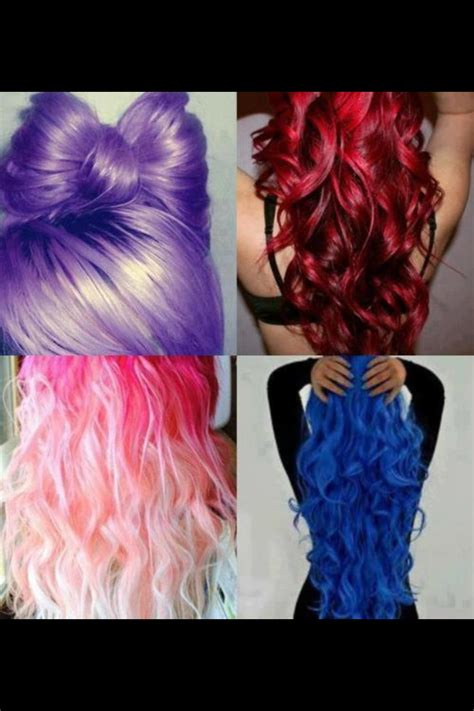 Different Color Hair Weird Hair Color Pinterest
