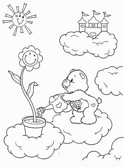 Coloring Care Bears Nursing Residents Template Autumn
