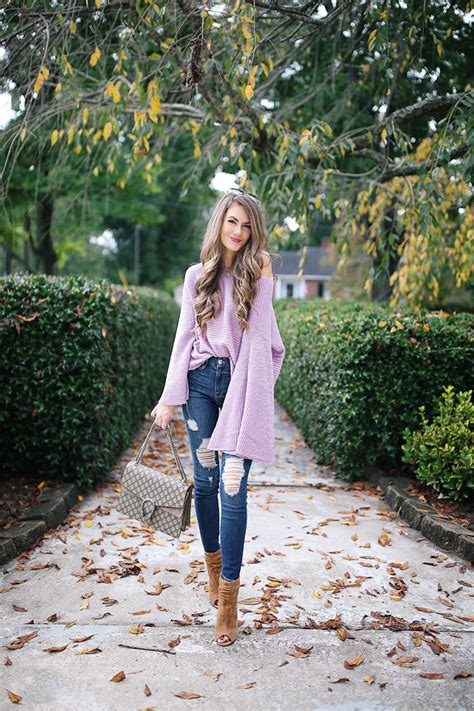 Lavender Bell Sleeve Sweater Southern Curls And Pearls