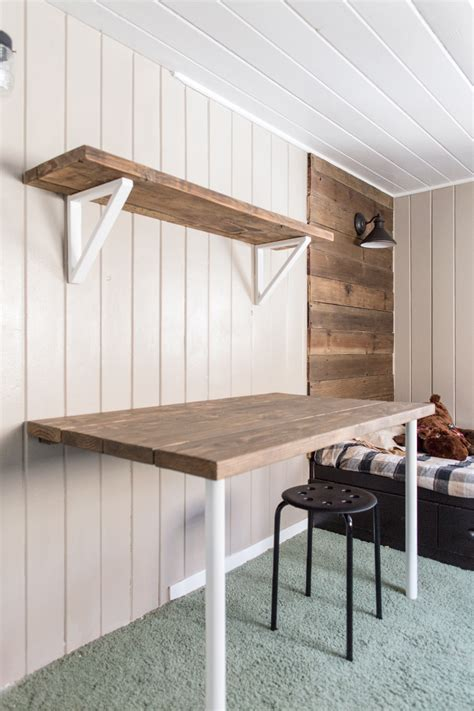 how to make a wall mounted desk these 18 diy wall mounted desks are the perfect space