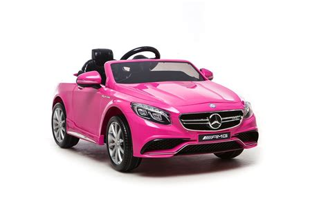 pink kid car mercedes s63 amg electric ride on car pink available