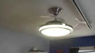 hunter fanaway retractable blade ceiling fan in action