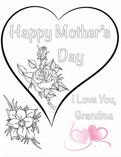 Coloring Pages Mother Grandma Mothers Printable Sheets