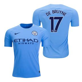 Nike Youth Manchester City De Bruyne #17 Jersey (Home 17 ...