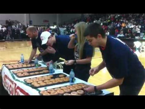 krispy kreme doughnut eating contest youtube