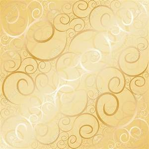 Old Gold Swirl Wallpaper Background. Vector Illustration ...
