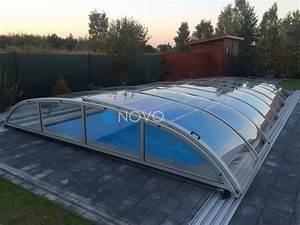 gfk pool abdeckung uberdachung pool dach halle With französischer balkon mit schwimmbecken für den garten