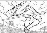 Coloring Pages Track Field Sports Print Books sketch template