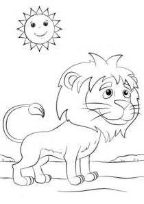 Cute Cartoon Lion coloring page | Free Printable Coloring ...