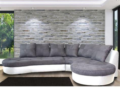 canapé d angle gris et blanc canapé d 39 angle droit bimatière blanc et gris stephane