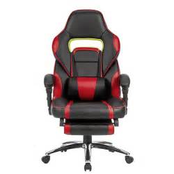 racing car swivel gaming computer office chair with padded footrest adjustable