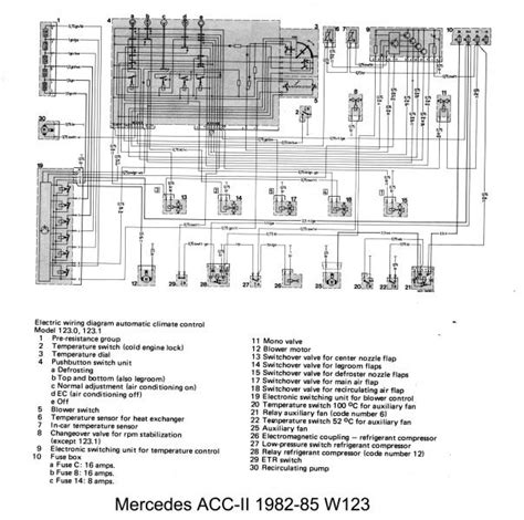 w123 auto to manual climate control wiring help peachparts mercedes