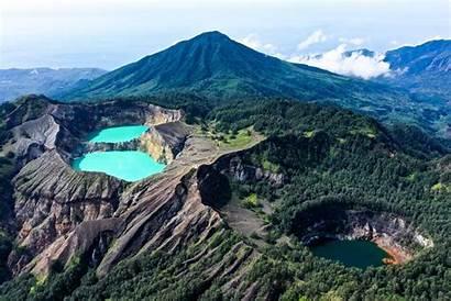 Kelimutu Indonesia Lakes Flores Crater Mount National