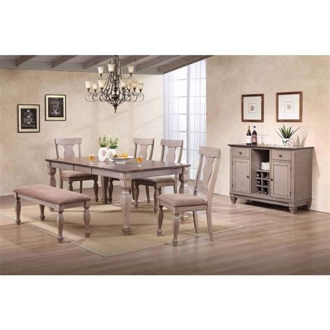 shop  tone brown wood rectangle dinette dining room