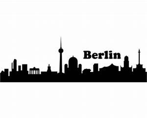Skyline Bilder Schwarz Weiß : wandtattoo berlin skyline schwarz 30x9 4 cm plot4u ~ Orissabook.com Haus und Dekorationen
