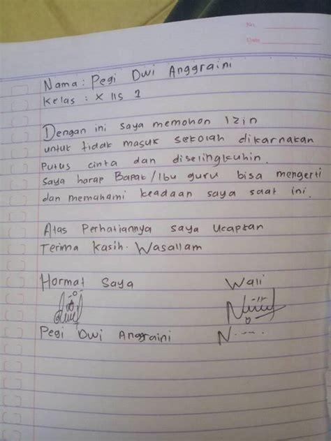 Contoh Surat Izin Sakit Tulisan Tangan by 6 Surat Izin Tidak Masuk Sekolah Ini Bikin Ngakak Semua