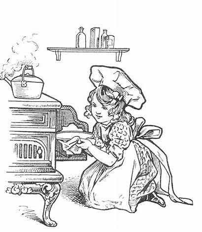 Coloring Pages Baking Cake Kitchen Adult Recipes