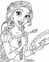 Rapunzel Tangled Coloring Pascal Pages Painting Pdf Disney Printable Disneyclips sketch template