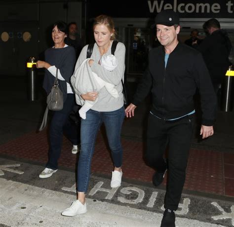 Declan Donnelly and wife Ali Astall pictured arriving back ...